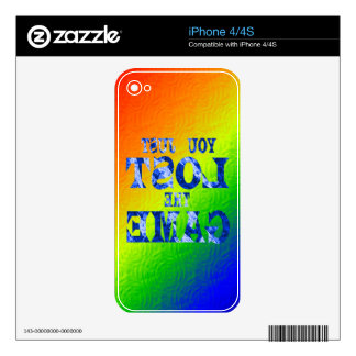 You just lost the game - Internet meme Skin For iPhone 4S
