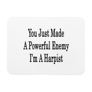 You Just Made A Powerful Enemy I'm A Harpist Rectangular Photo Magnet