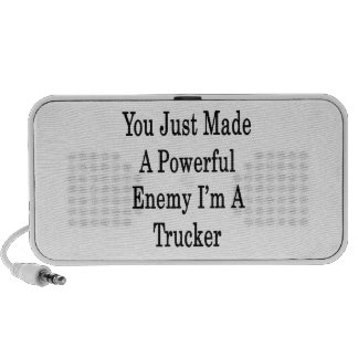 You Just Made A Powerful Enemy I'm A Trucker Mini Speaker