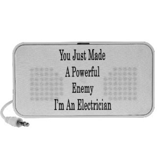 You Just Made A Powerful Enemy I'm An Electrician Portable Speaker