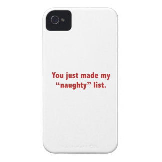 """You Just Made My """"Naughty"""" List Case-Mate iPhone 4 Case"""