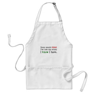 You just think you know what's on my mind (2) adult apron