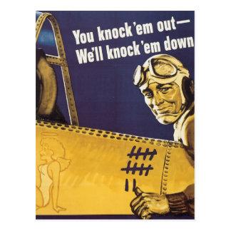 You Knock 'Em Out Postcard