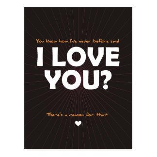 You know how I've Never Before Said I Love You? Postcard
