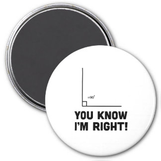You Know I'm Right 3 Inch Round Magnet