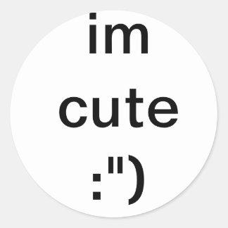 You know it classic round sticker