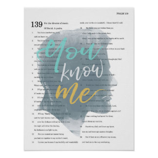 You Know Me, Psalm 139, Male Silhouette Poster