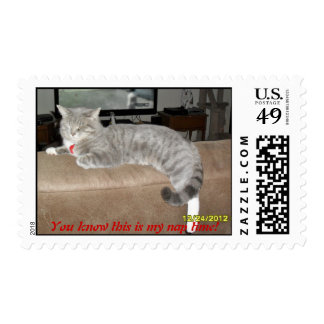 You know this is my nap time! postage stamps