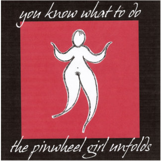 You Know What To Do Pinwheel Girl Stand Up Art Statuette