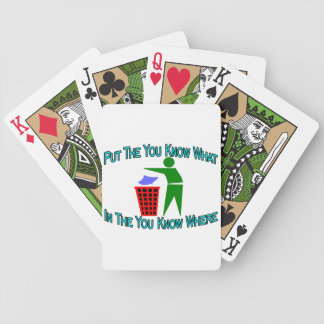 You Know What You Know Where Trash Can Bicycle Playing Cards