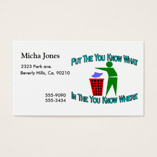 You Know What You Know Where Trash Can Business Card