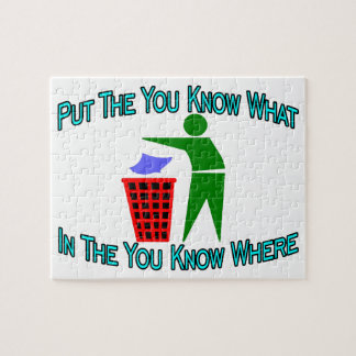 You Know What You Know Where Trash Can Jigsaw Puzzle