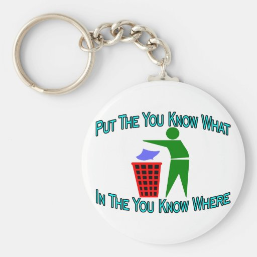 You Know Where Basic Round Button Keychain