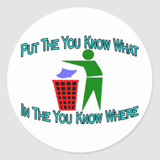 You Know Where Classic Round Sticker