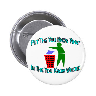 You Know Where Pinback Button