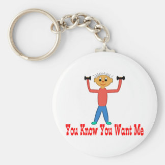 You Know You Want Me Basic Round Button Keychain