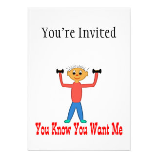 You Know You Want Me Personalized Invitations