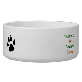 You Know You Want To Be Indian Like Me Pet Food Bowl