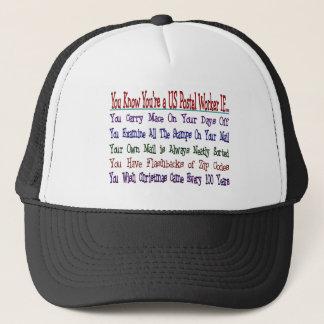 You Know Your a POSTAL WORKER IF Trucker Hat
