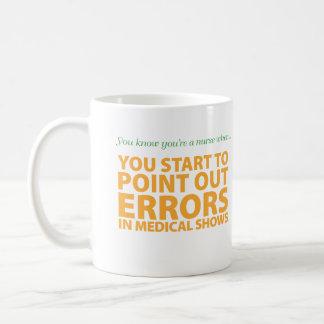 You know you're a nurse when... classic white coffee mug