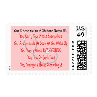 You Know You're A STUDENT NURSE IF... Stamp
