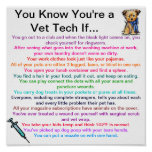 You Know You're a Vet Tech If... Poster