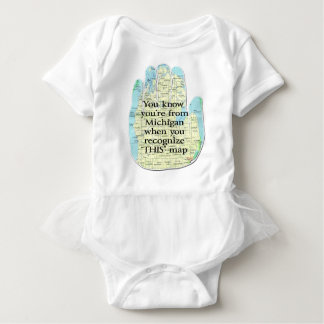 You Know You're From Michigan When Baby Bodysuit