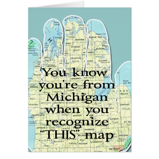 You Know You're From Michigan When Card