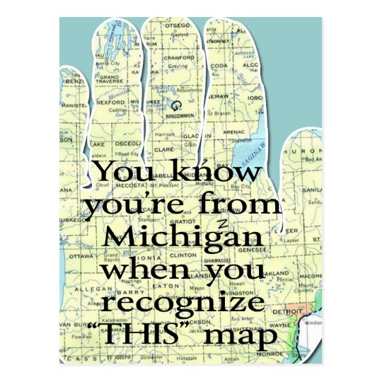 You Know You're From Michigan When You Recognize Postcard