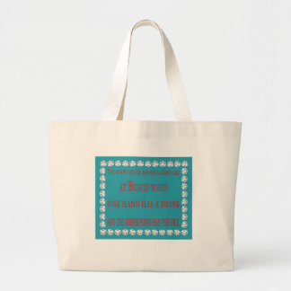you know you're having a good time large tote bag