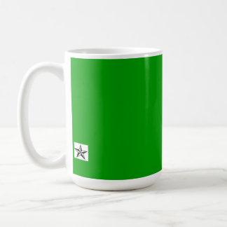 You laugh at me... classic white coffee mug