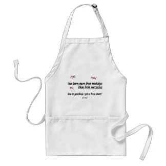 You Learn More from Mistakes Adult Apron