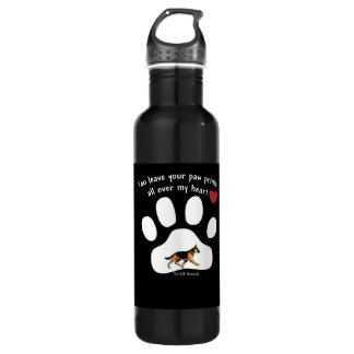 YOU LEAVE YOUR PAW PRINTS ALL OVER MY HEART! WATER BOTTLE