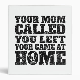 You Left Your Game At Home Ski Jumping Vinyl Binder