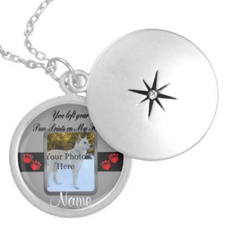 You left your Paw Prints on My Heart Round Locket Necklace