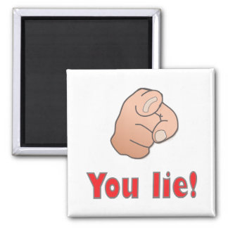 You lie! 2 inch square magnet