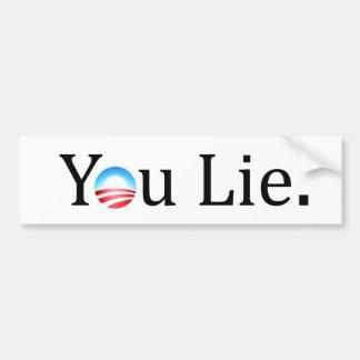 You Lie Anti-Obama Bumper Sticker