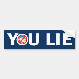 YOU LIE Anti Obama Bumper Sticker Car Bumper Sticker