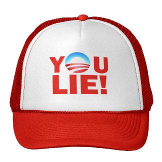 You Lie Barack Hussein Obama Mesh Hats