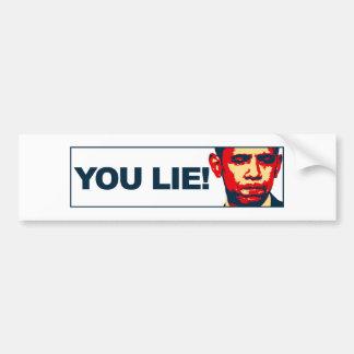 You lie! car bumper sticker