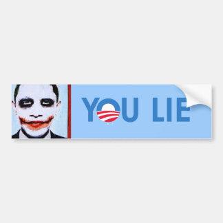 You Lie bumper sticker blue