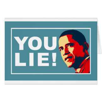 YOU LIE! GREETING CARD