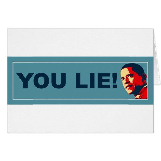 You Lie Card