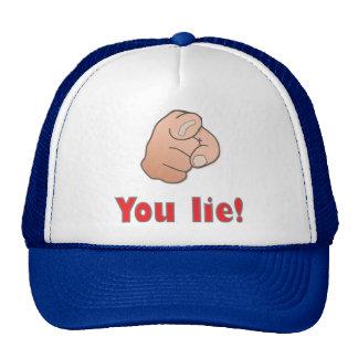 You lie! mesh hats