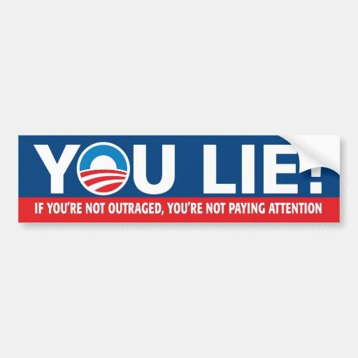 YOU LIE! Nobama Bumper Sticker Car Bumper Sticker