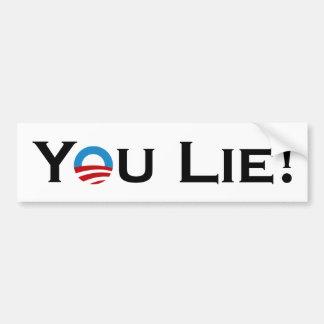 You Lie Obama Bumper Sticker