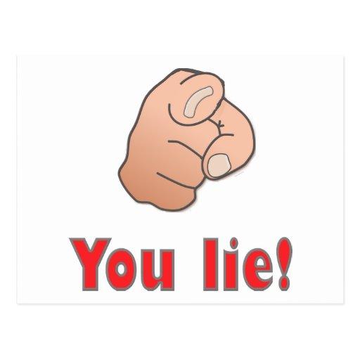 You lie! postcards