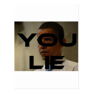 You Lie Postcard
