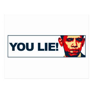 You lie! postcard