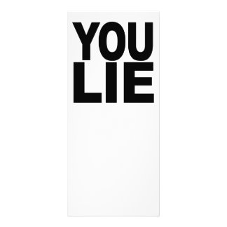 You Lie Full Color Rack Card